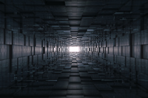 3d Tunnel Abstract 8k Wallpaper