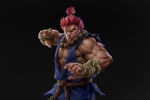 4k Akuma Street Fighter Artwork