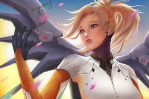 4k Art Mercy Overwatch Wallpaper