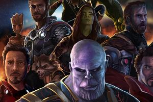 4k Avengers Infinity War Art Wallpaper