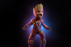 4k Baby Groot 2020 Wallpaper