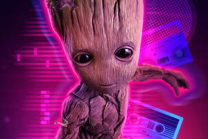 4k Baby Groot Wallpaper