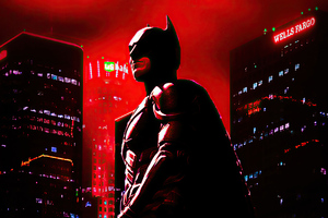 4k Batman Red Wallpaper