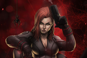 4k Black Widow 2020 Artwork Wallpaper
