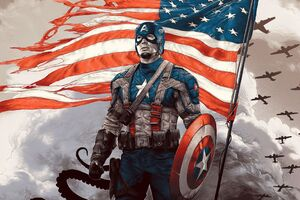 4k Captain America Hero Wallpaper