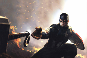 4k Captain America Mjolnir Avengers Endgame 2019