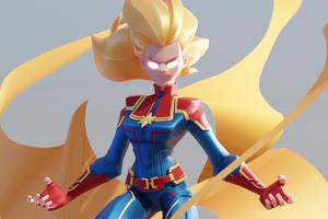 4k Captain Marvel 2020 Art
