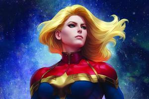 4k Captain Marvel Art 2020 Wallpaper
