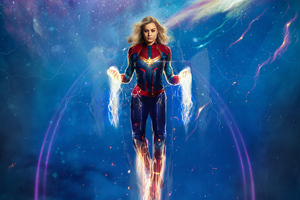 4k Captain Marvel Artwork Wallpaper