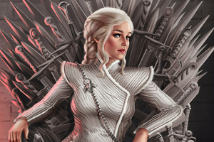 4k Daenerys Targaryen Art Wallpaper