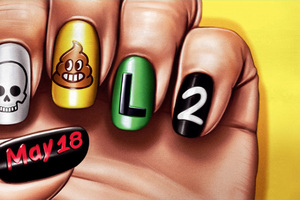 4k Deadpool 2 Funny Nail Arts Poster