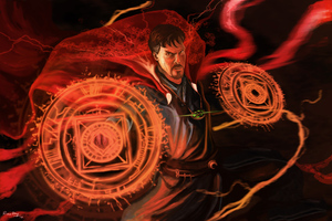 4k Doctor Strange Artwork Wallpaper