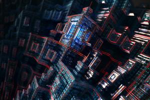 4k Fractal Buildings