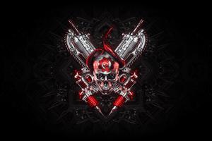 4k Gears Of War Logo Art Wallpaper