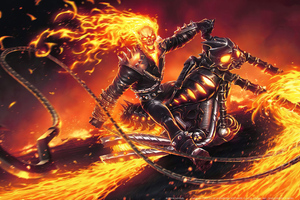 4k Ghost Rider Contest Of Champions Wallpaper