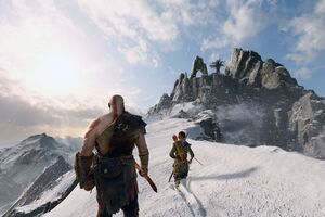 4k God Of War 4 Kratos And Atreus 2018 Wallpaper