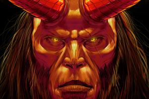 4k Hellboy Art