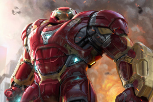 4k Hulkbuster Art Wallpaper