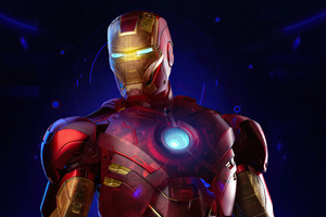 4k Iron Man Holographic