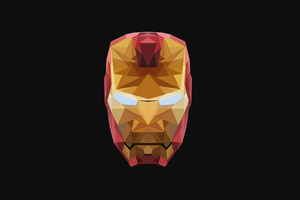 4k Iron Man Low Poly