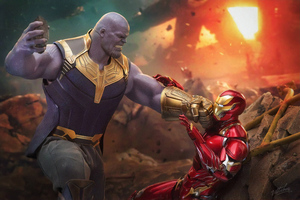 4k Iron Man Vs Thanos