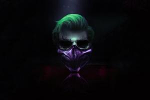 4k Joker Mask Wallpaper