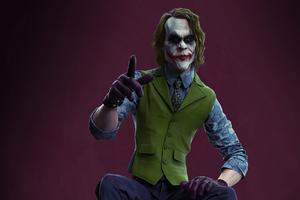 4k Joker Sitting Wallpaper