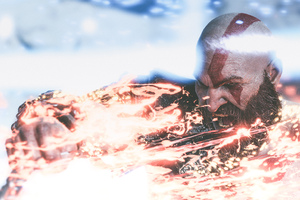 4k Kratos God Of War 4 Game