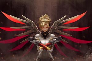 4k Mercy Overwatch Art