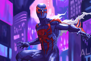 4k Spiderman 2099 Wallpaper