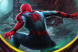 4k Spiderman Farfrom Home Art