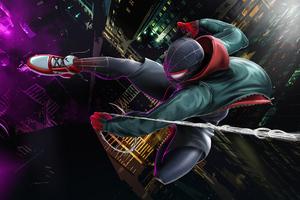 4k Spiderman Miles Wallpaper