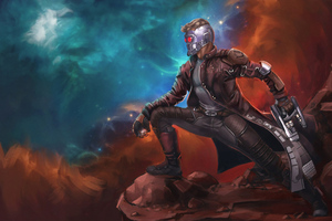 4k Star Lord Art Wallpaper