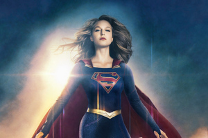 4k Supergirl Art Wallpaper