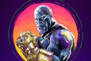 4k Thanos Sketch Artwork Wallpaper