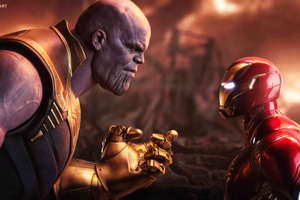 4k Thanos Vs Iron Man
