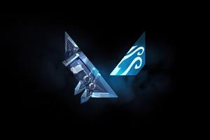 4k Valorant Logo Wallpaper