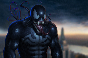 4k Venom Digital Art