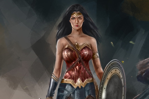 4k Wonder Woman Artworks Wallpaper