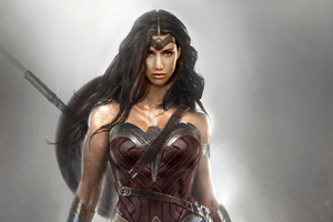 4k Wonder Woman New Art