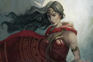 4k Wonder Woman New Artwork