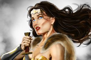 4k Wonder Woman Paint Artwork