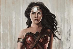 4k Wonder Woman Sketch Wallpaper