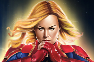 4kcaptain Marvel Art Wallpaper