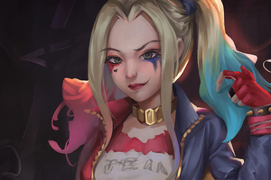 4kharley Quin Art Wallpaper