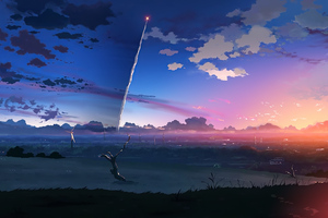 5 Centimeters Per Second Anime Tv Series Wallpaper