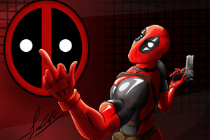 5k Deadpool Art Wallpaper