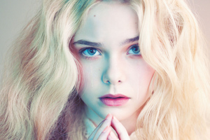 5k Elle Fanning Cute Wallpaper