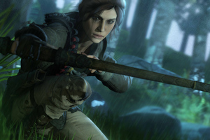 5k Lara Croft Tomb Raider Art Wallpaper