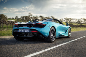 5k McLaren 720S Spider 2019 Rear View